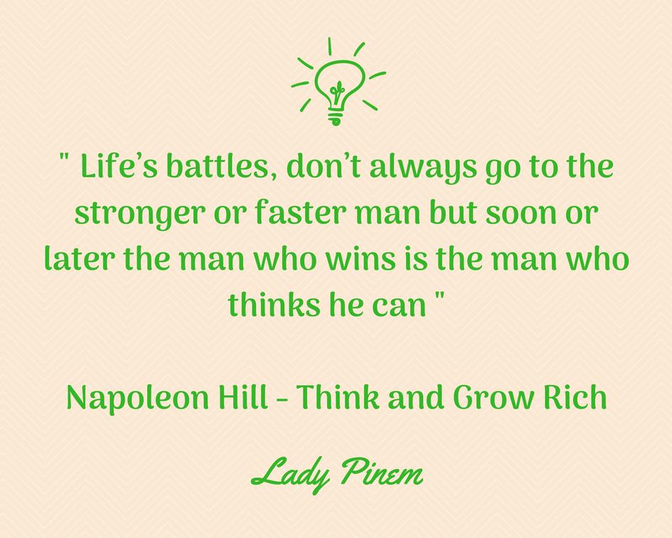 kutipan terbaik napoleon hill lady pinem