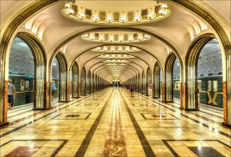 Moscow - Mayakovskaya Metro Station